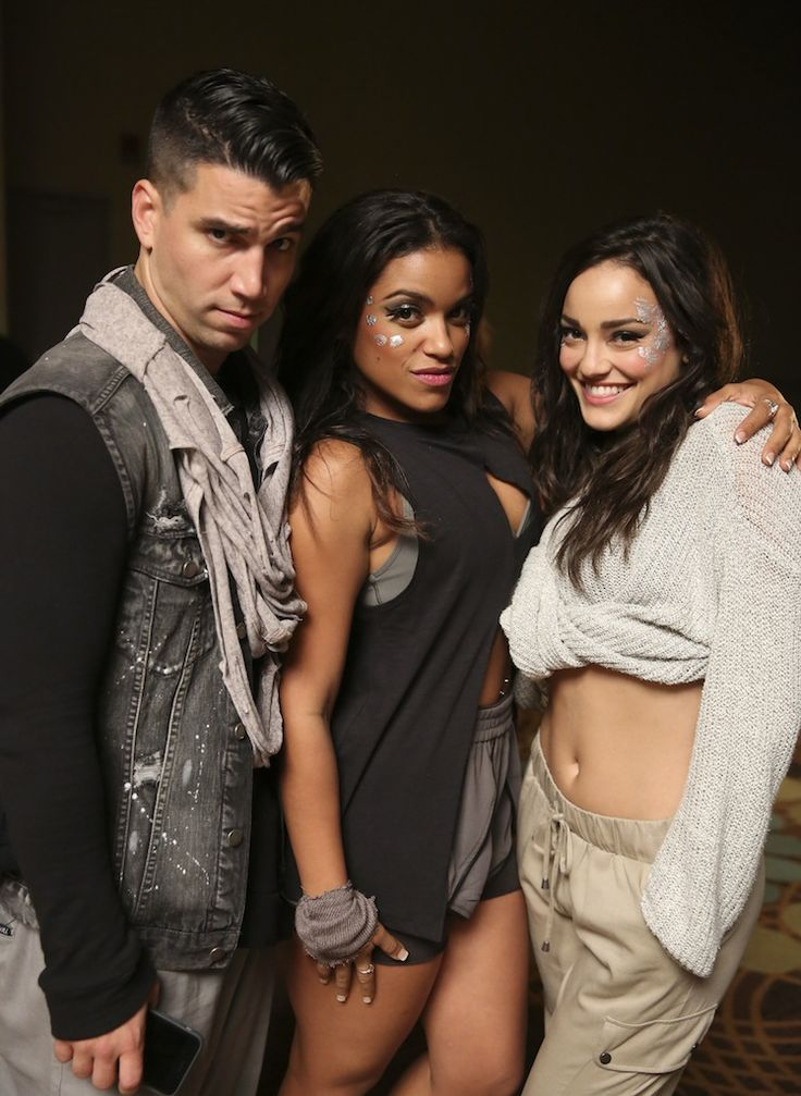 Oskar Rodriguez, Vivian Lamolli and Alexandra Rodriguez on the set of East Los High 3 on Monday, March, 23, 2015 in Los Angeles. (Photo by Todd Williamson/Hulu)