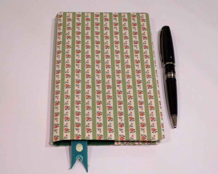 Fabric Book Cover with Bookmark, Suits A6 Notebook, Bonus Notebook Included, Green Floral Print Cotton Fabric, Gift Idea for Women by JadoreBooks on Etsy https://www.etsy.com/listing/262460469/fabric-book-cover-with-bookmark-suits-a6