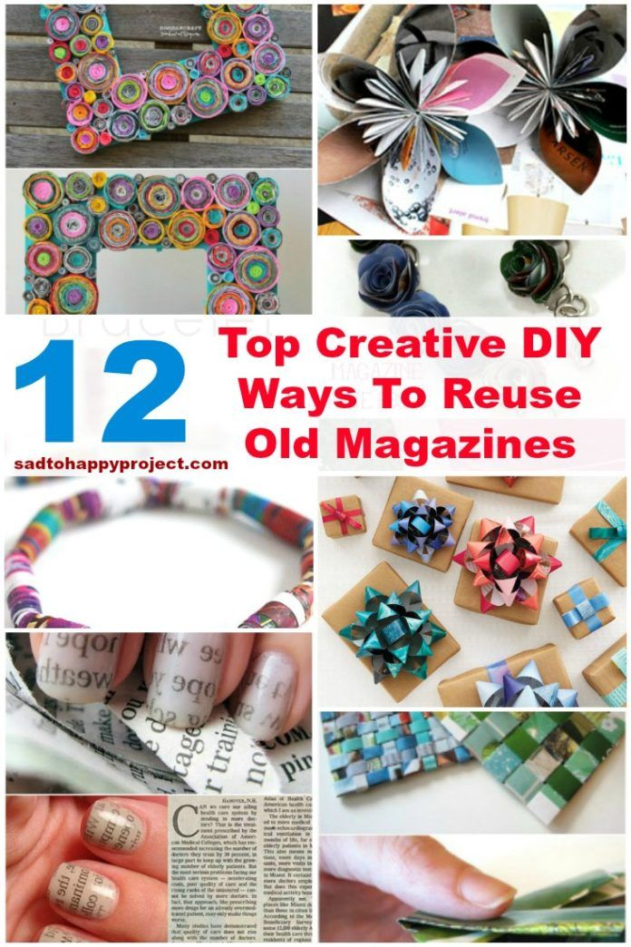 12 Top Diy Crafts To Make Using Old Magazines And Newspapers I M