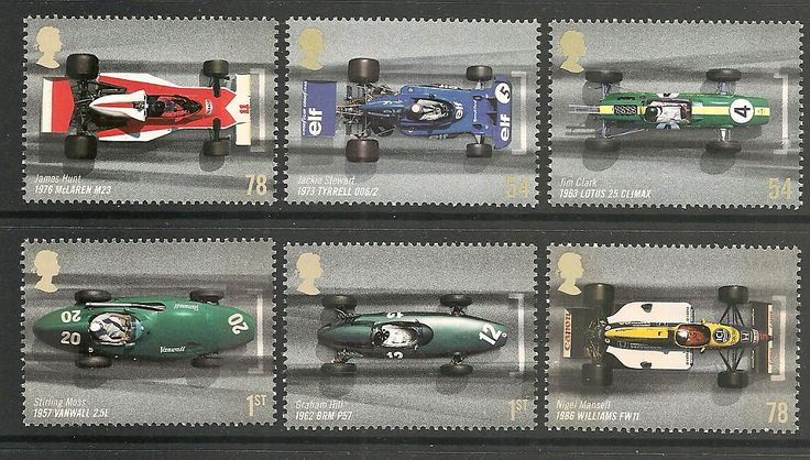 6 Grand Prix cars from the 2007 set