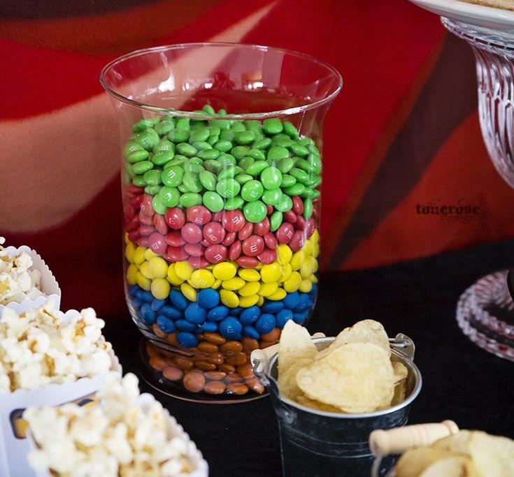 M&Ms ninjago birthday. Colorful birthday party!