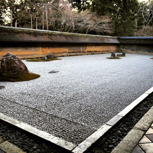 The Zen Garden at Ryoanji Temple. #zen #zengarden #ryoanji #temple #Japan #Kyoto #rock #ryoanjitemple
