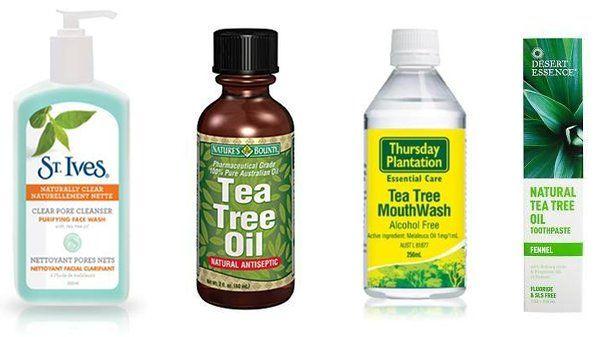 Tea tree oil acne products
