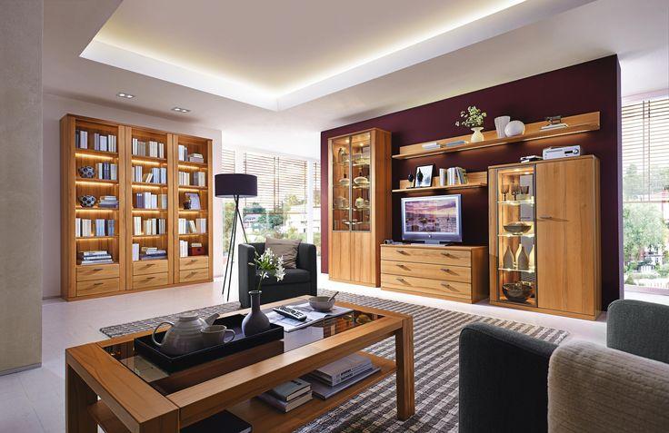 Stilvolle Wohnwand von INVIVUS Eichenholz schmückt Ihr Zuhause - wohnzimmerschrank buche massiv