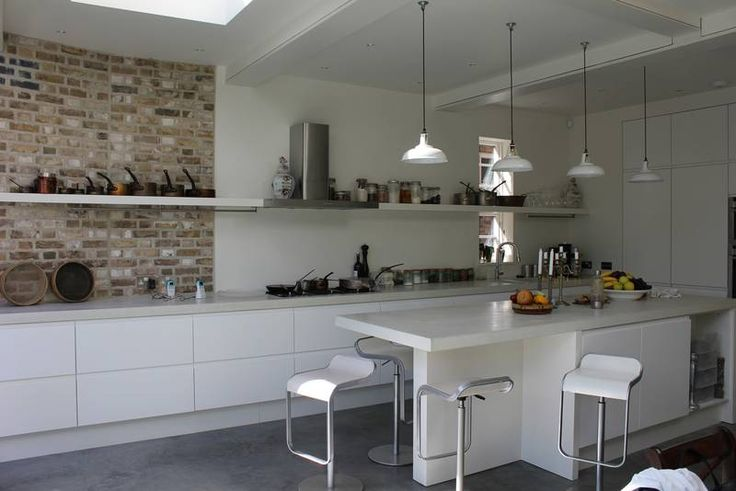 Polished Concrete Worktop and units and floor