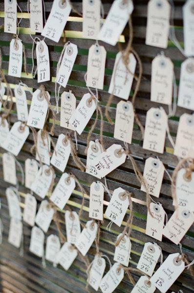 mariage escord card kraft tag étiquette plan de table marque place