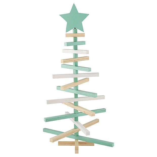 NEW Beach House Wooden Painted Christmas Table Tree - 60cm