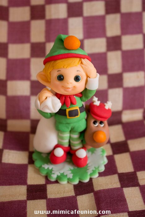 Elf Fondant Cupcaake Toppers - by mimicafeunion @ CakesDecor.com - cake decorating website