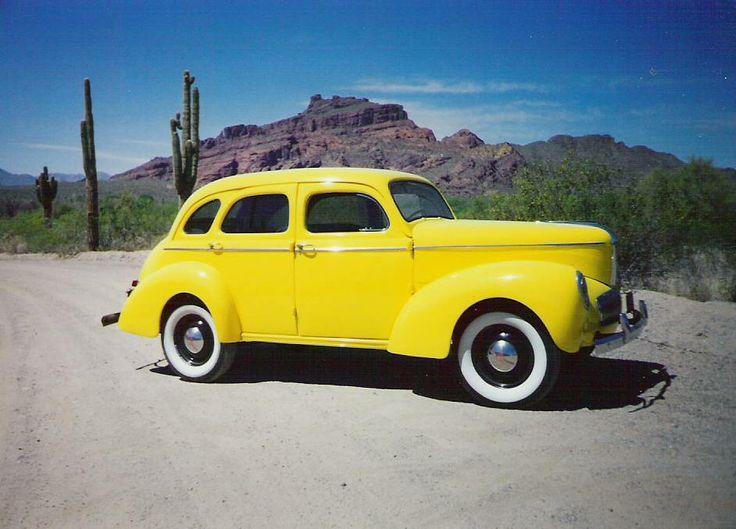 B Ee F Ab Cc Ecec C Color Yellow War on Old Chevy 4 Door
