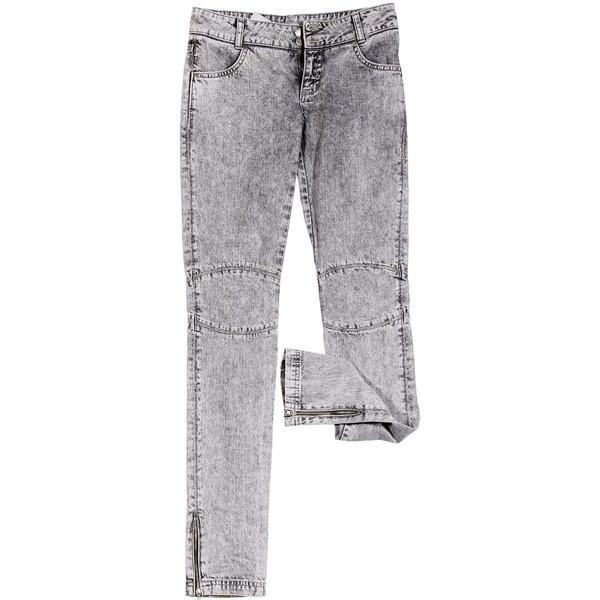 Крашеные серые джинсы, Cheap Monday ❤ liked on Polyvore