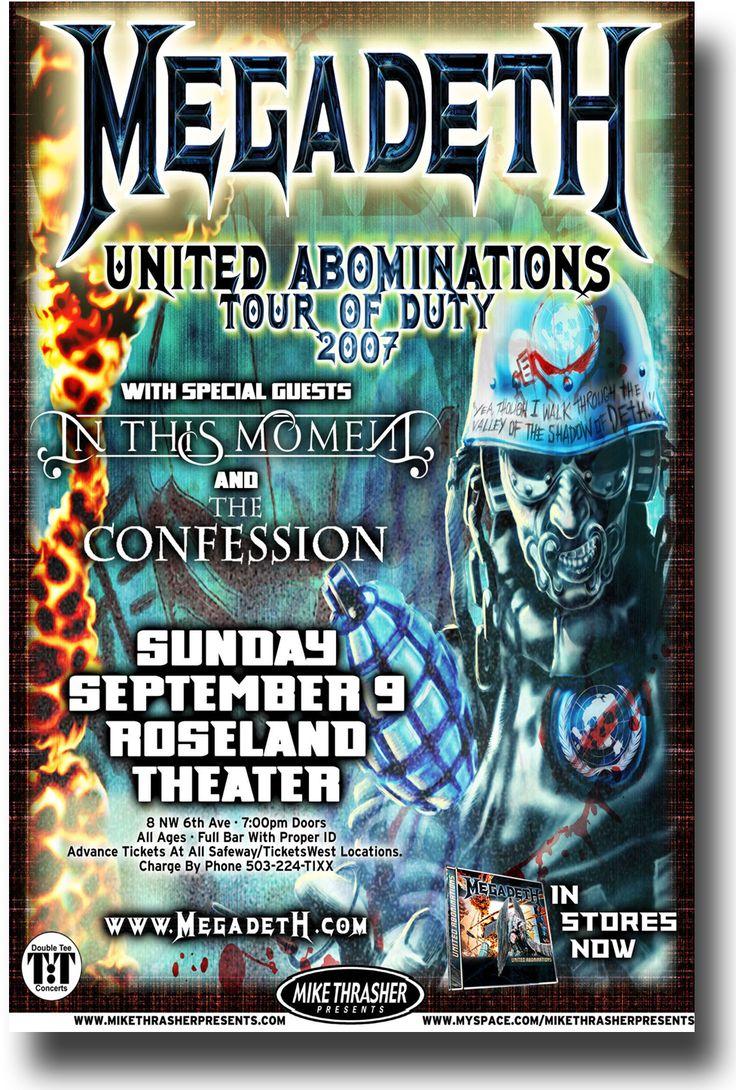 Megadeth Poster – Concert Flyer United Abominations Tour 2007