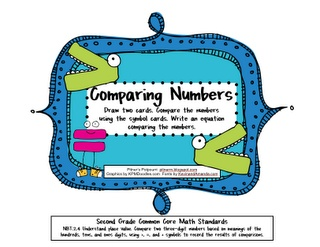 Here's an activity where students draw two cards and compare the numbers  using symbol cards. Includes numbers in standard, word and expanded forms.