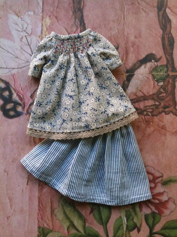 Blue Shepherdess   Outfit set for Blythe by moshimoshistudio