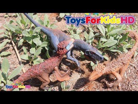 Videos de dinosaurios para niños  Lo Mejor de Aventuras de Dinosaurios de Juguete Schleich