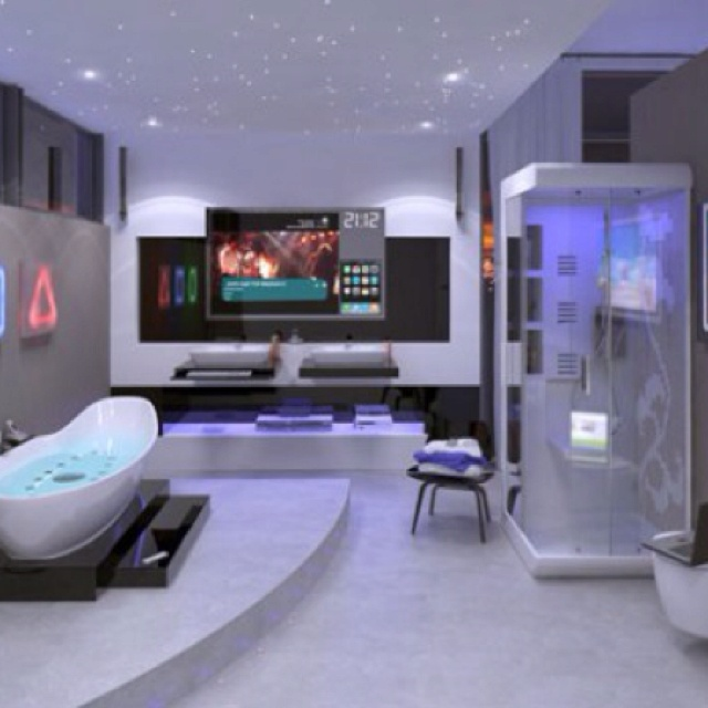 hi tech home decor ideas although this isnt an actual man cave it is a bathroom fit for a dude like me - Nice Bathrooms Pictures