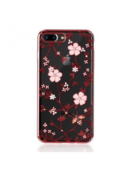 coque iphone 7 plus fleur rouge