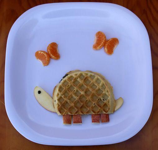 Turtle Waffle: Food Ideas, Breakfast, Waffles, Turtle Waffle, Turtles, Food Art, Kids Food