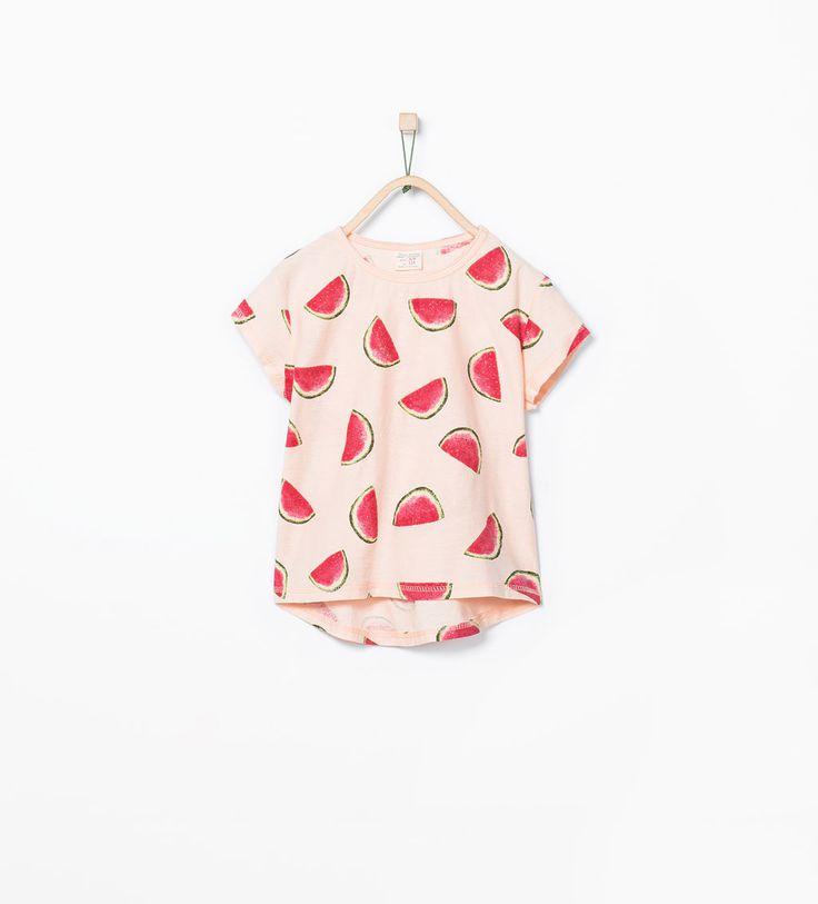 ZARA的图片 1 名称 水果圖案 T 恤