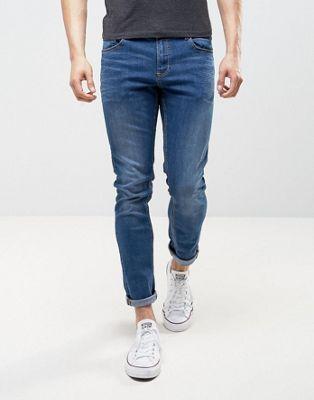 Зауженные джинсы цвета индиго LDN DNM