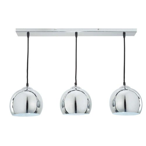 Suspension triple en aluminium brossé D 70 cm TRIO