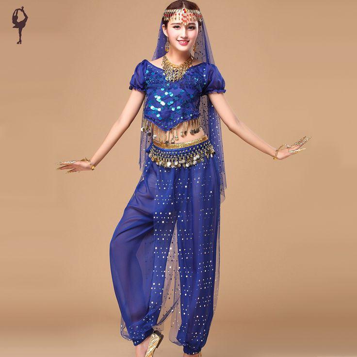 2016-kostum-tari-bollywood-5-pcs-atas-celana-Pinggang-rantai-Jilbab-Headwear-Belly-Dancing-pakaian-Dress.jpg (900×900)