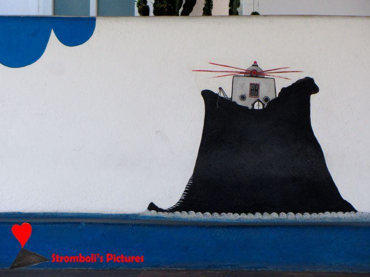 #Strombolicchio artistic representation.
