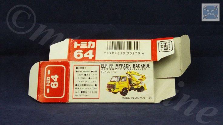 TOMICA 064B ISUZU ELF BACKHOE | 1/72 | ORIGINAL BOX ONLY | 1988-1993 JAPAN