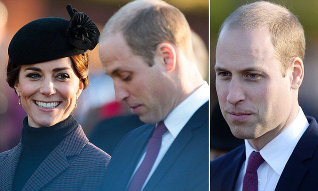Prince William, 33, has now finally embraced his receding hairline after opting for a new tightly-cropped hairdo as he attended a church service in Sandringham, Norfolk, with Kate and the Queen.