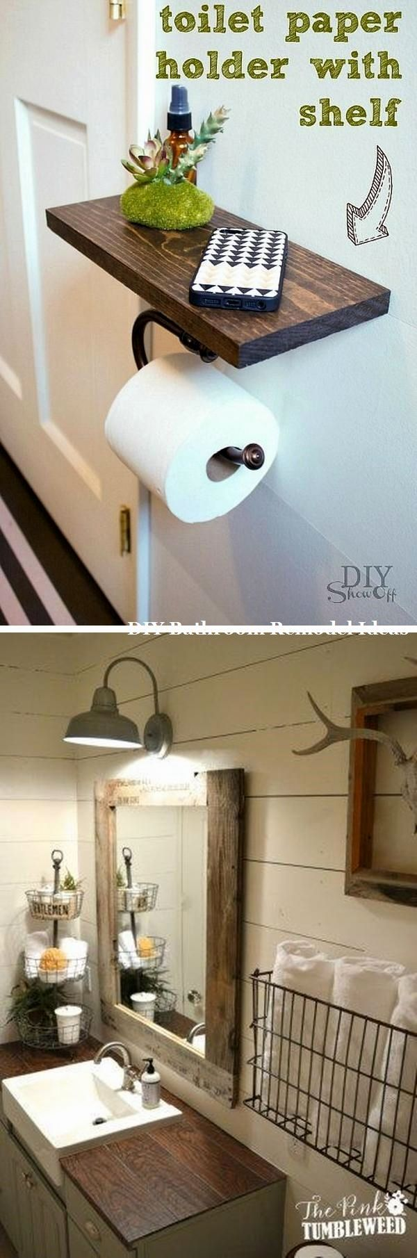 15 unglaubliche DIY-Ideen für Badezimmer Makeover #badideen