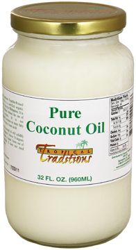 Image of Expeller-Pressed Coconut Oil - Non-Certified - 32 oz. from Tropical Traditions. Non-certified organic expeller-pressed coconut oils from Tropical Traditions are an excellent value.