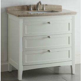 "ALLEN + ROTH 36"" WHITE WINDELTON BATH VANITY WITH TOP: Lowes, Decor, Allen Roth, Bathroom Vanities, Bath Vanities, Bathroom Ideas, Bathroom Vanity, Light"