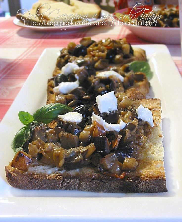 Bruschette con melanzane | ricetta vegetariana buffet