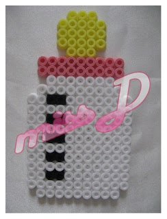 Miss D Creations: Baby Bottle Pink - Hama Beads Necklaces