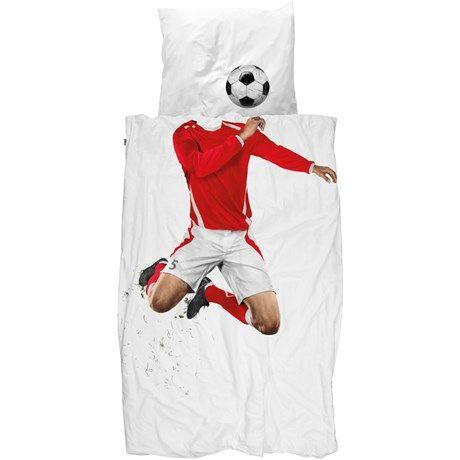 Snurk sängkläder - Fotbollsspelare, Röd