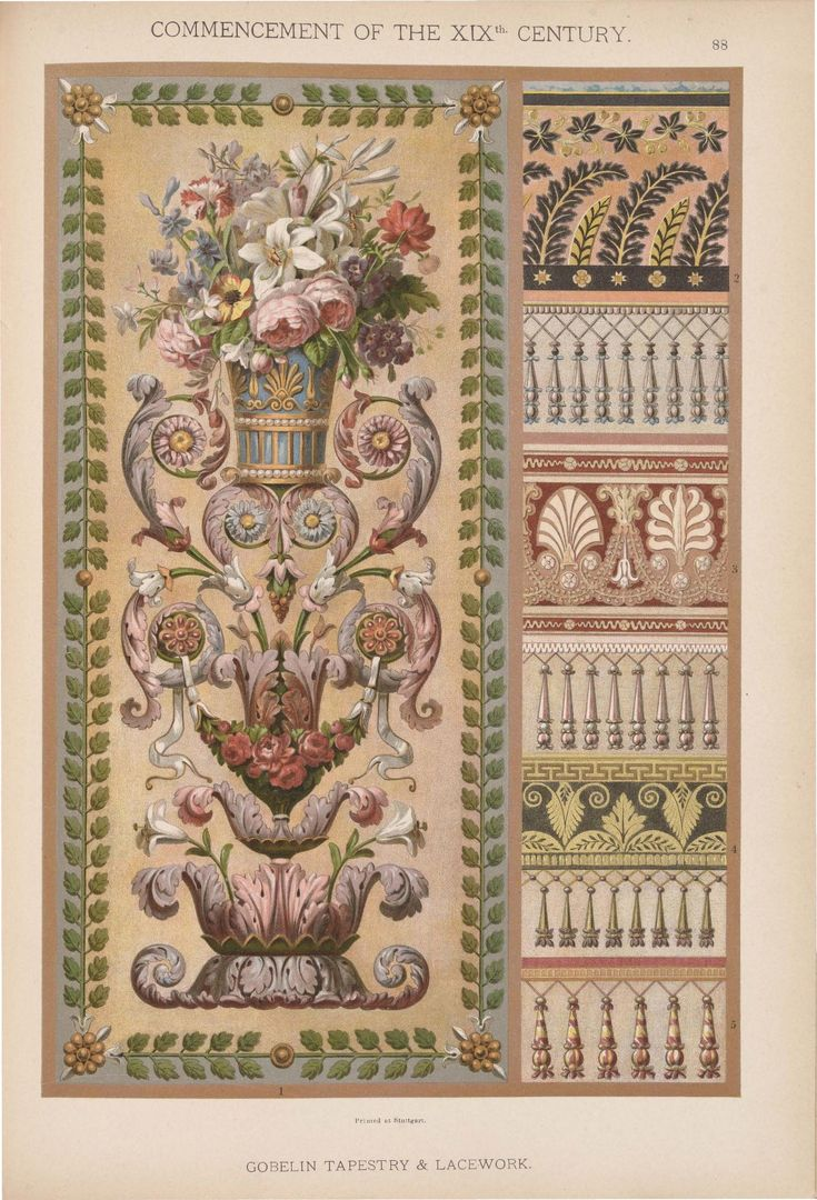 Emil Hochdanz (1816 -1885) — Commencement of the XIX Centuries. Historic styles of ornament (1317x1934)