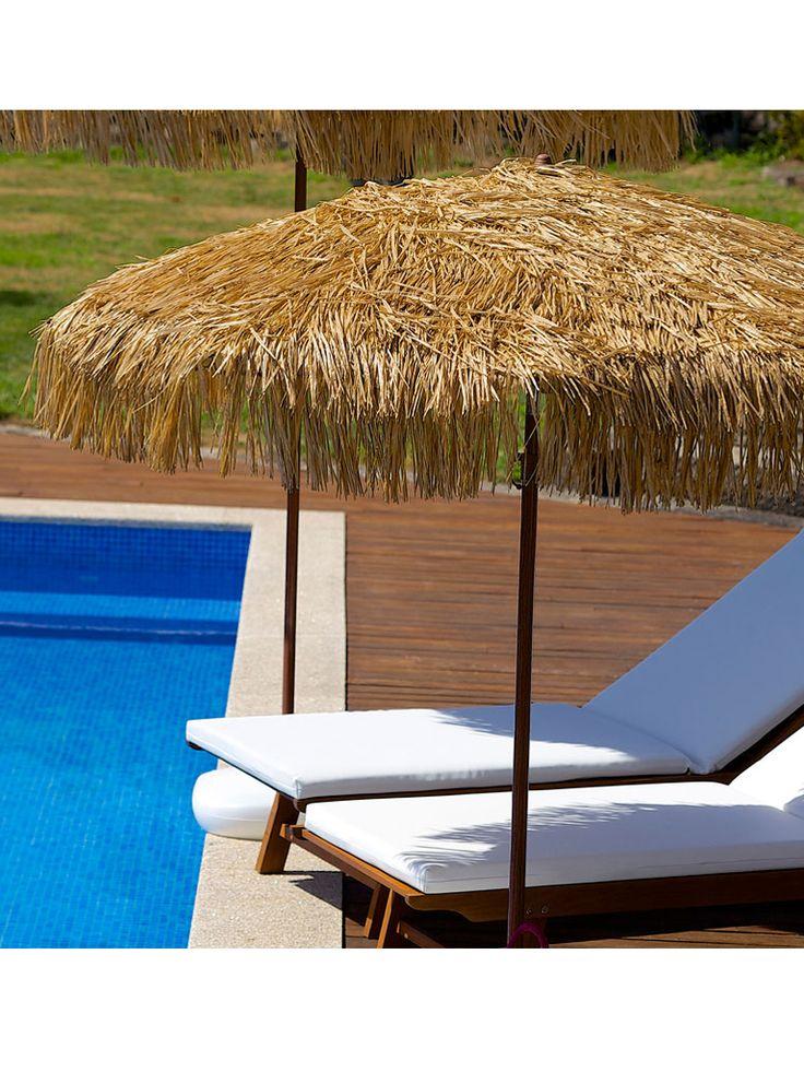 Parasol fibra mastil acero exterior terraza hosteleria mobiliario ideal parasoles y tumbonas - Mobiliario ideal ...