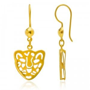 Tiger Trigger Earrings - MettaGems | Natural Gemstone Jewelry, Direct from manufacturers  18K Solid Gold