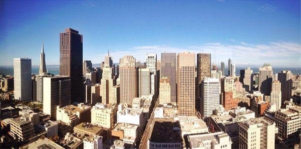 Motivation Monday: 35th floor views of San Francisco from the Grand Hyatt San Francisco fitness center.