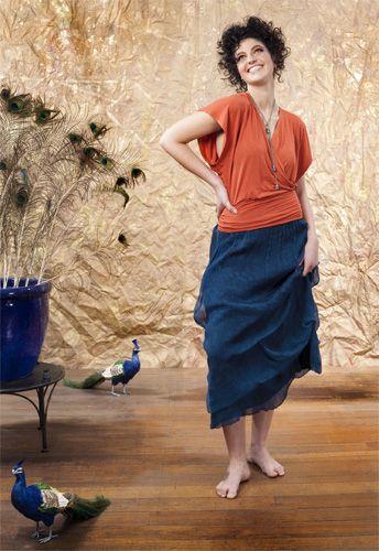 Kingfisher Kimono and Flight of Paradise Skirt