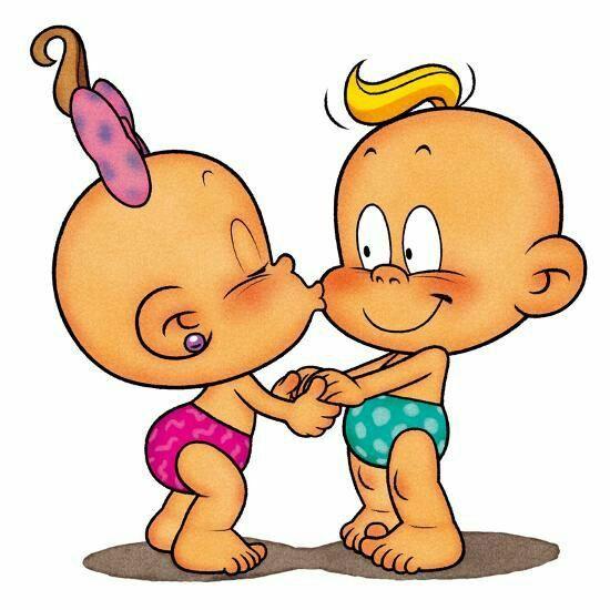 Картинка карапузы мальчик и девочка