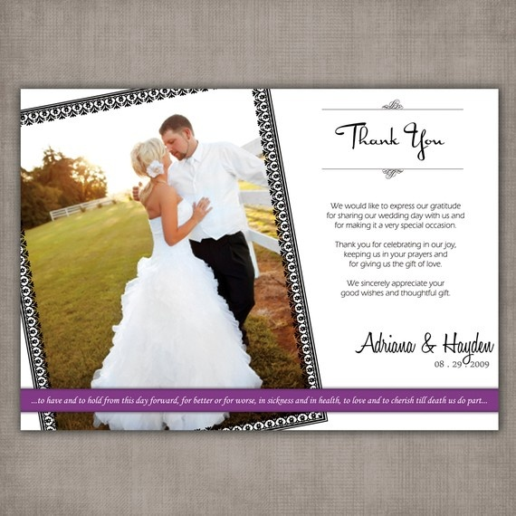 50 best Wedding Thank You Cards images – What to Put in a Wedding Thank You Card