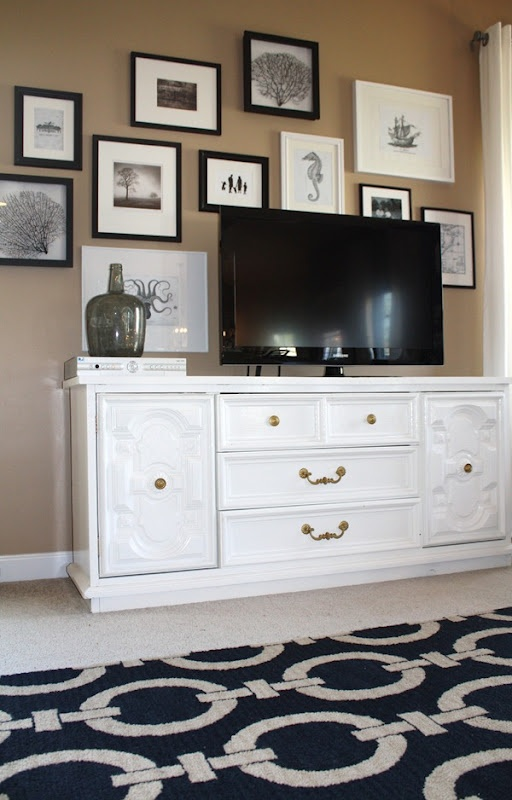 Re-using a dresser as tv stand