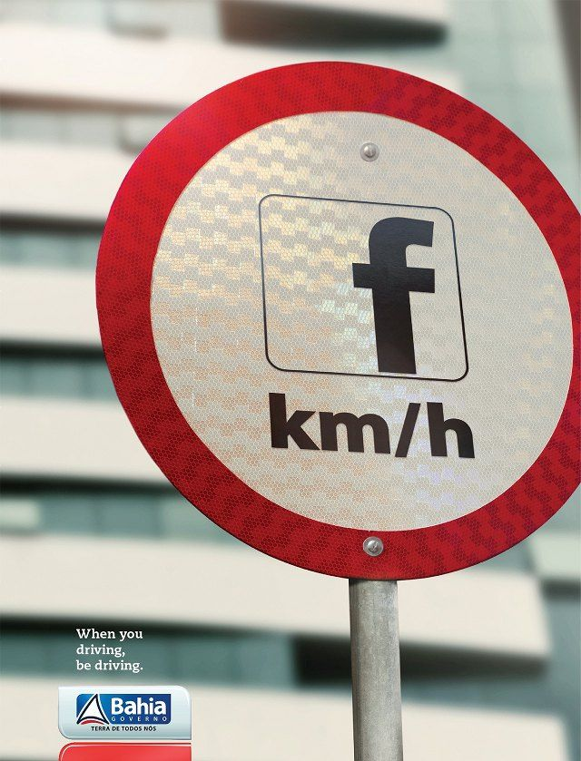 do not Facebook while driving