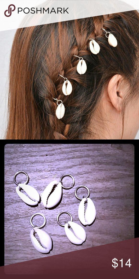🍯🍑NEW!!Braid jewelry🍯🍑 🍯🍑NEW!!!Seashell braided hair Jewelry .. Real seashells!! 1pack =5 seashell braided hair Jewelry🍯🍑 Accessories Hair Accessories