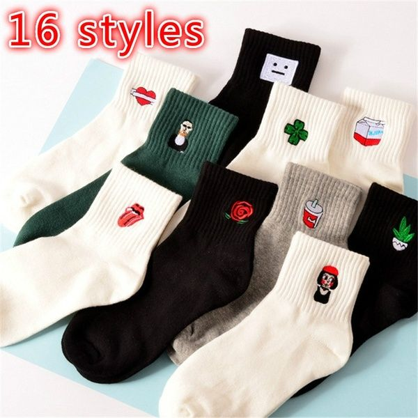Fashion Unisex Daily Socks Harajuku Korea Japanese Cotton Cartoon Funny Sock