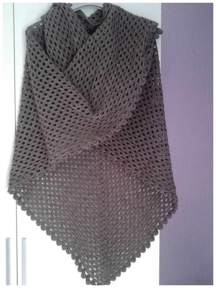 Chal interminable a crochet #tutorial #DIY                                                                                                                                                                                 Más