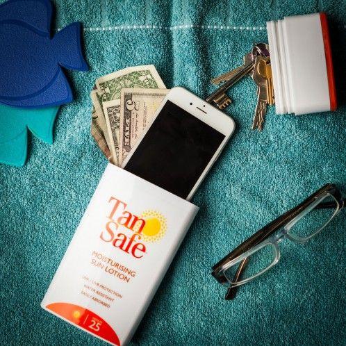 Reis gadgets  - TanSafe - Zonnecrème met geheime opbergplaats - De ultieme geheime bergplaats voor je waardevolle dingen!