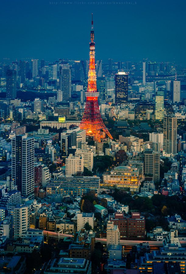 Tokyo Tower, Japan | by Kwanchai Khammuean on 500px