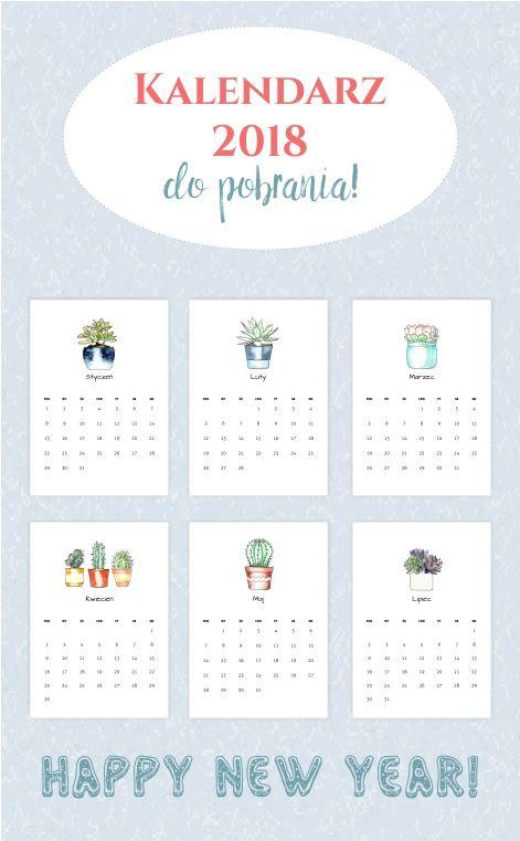 2018 Printable Watercolor Calendar for Free!