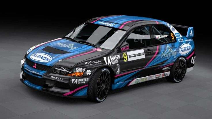 Semerád Rally Team - M. Hudec (Mitsubishi Lancer Evo IX) - new design, first seen at Setkání mistrů 2012.